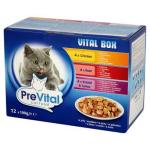 14945 - PreVital kapsičky mačky 12x100g kura+hovädzie + králik a morka v  želé (pack) 98df1101433