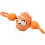 EBI COOCKOO DOG TOY SHOOT 7,8 CM BALL WITH STRING ORANGE
