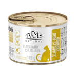 4Vets NATURAL VETERINARY EXCLUSIVE URINARY 185g cat