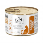 4Vets NATURAL VETERINARY EXCLUSIVE WEIGHT REDUCTION 185g cat